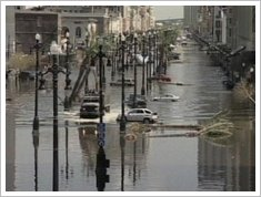 flooded street katrina